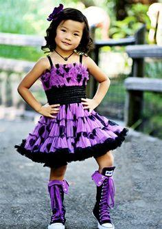 Purple Dress - I want those shoes!