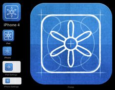 All the sizes of iOS app icons, includes PSD template.