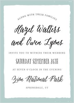 """The Painted Border <a class=""""crosslink"""" href=""""https://www.basicinvite.com/wedding/wedding-invitations.html"""" target=""""_self"""" alt=""""Custom Wedding Invitions"""" title=""""Custom Wedding Invitions"""">Wedding Invitation</a> sports a quaintly simple yet distinct border. Tons of room to add all of your details, while maintaining a look of class and sophistication.</p><p>Here at Basic Invite we believe that every card should be a reflection of the person sending it. That is why every single one of our cards…"""
