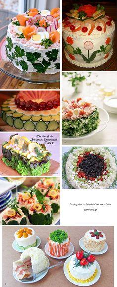 Delicious party food idea: swedish smorgastarta!