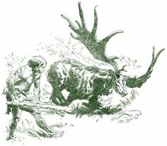 Nadherna kresba. Ovsem trochu strnula.  Ale jinak nadherna kompozice. Za povsimnuti stoji kresba travy, ktera vytvari pod postavami stin. V tomto je Burian mistr a nejenom v tomto Prehistoric, Moose Art, Animals, Human Evolution, Literatura, Animales, Animaux, Prehistoric Age, Animal