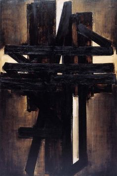 Pierre Soulages - Painting, 1953, oil on canvas
