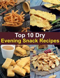 Top 10 Indian Dry Evening Snack Recipes, Veg | TarlaDalal.com | #232 Indian Dry Snacks, Evening Snacks Indian, Indian Food Recipes, Gourmet Recipes, Snack Recipes, Indian Foods, Brunch Recipes, Healthy Sweet Snacks, Vegetarian Snacks
