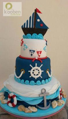 Nautical Baby Cake kooben