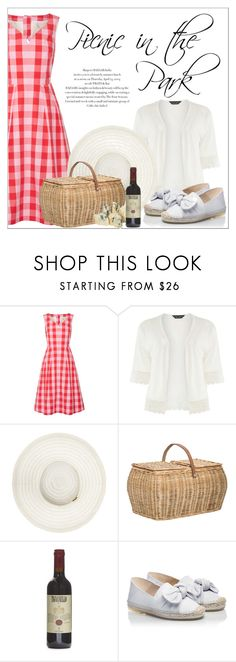 """""""Picnic in the Patk"""" by amchavesj-1 ❤ liked on Polyvore featuring Draper James, Dorothy Perkins, Melissa Odabash, Bloomingville, RAS and picnic"""