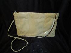 $8.50 free shipping #Giani Bernini genuine snake clutch #handbag purse. Gorgeous soft beige
