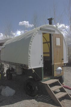 "Sheep wagon, not meant to be traveled with: ""Floor 2x6,walls 2x6 T fir. doors and cabinets and ends are built with 3/4 inch premiun Doug fir  6 Ash Bows  7 pine Stringers  hidden screws  We use a high end canvas called top gun  Has outdoor life up to10 years    CONTACT US    Copyright 2011 idahosheepcamp.com. All rights reserved.    Web Hosting by Yahoo!    11670 W Peconic Dr  Boise, ID 83709  ph: 208 15,000$"