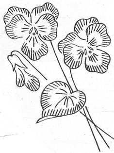 Pansies (hand embroidery pattern/transfer)