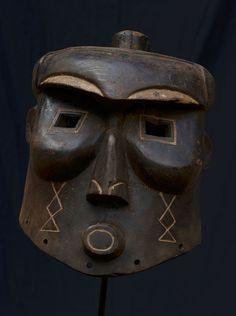 Kuba African Helmet Mask Congo 11148 | eBay