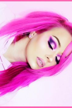 @manda31409 . ������������������������������ #arcticfoxhaircolor #pinkhair #hotpinkhair #colorfulhair #afvirginpink #EyelinerTutorial Hot Pink Hair, Hot Hair Colors, Teal Hair, Bright Hair, Cool Hair Color, Dip Dye Hair, Dyed Hair, Arctic Fox Hair Color, Permanent Hair Dye