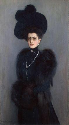 Portrait of Maria Abamelek-Lazareva by Bogdanov-Belsky - those eyes.....