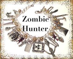 ZOMBIE Jewelry Zombie HUNTER Charm Bracelet by princessofscraps, $26.99