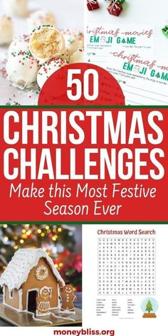 Here is an amazing list of Christmas challenge ideas! Plenty of fun for 24 day or 30 day of games! Or do a 12 days of Christmas advent calendar. Great Christmas challenge ideas for kids, families or group ideas! Find ideas on crafts, games, cookie exchanges, gifts and savings plan! This list will make you get organized and enjoy the season! Christmas Savings Plan, Christmas Bingo, Christmas Gift Exchange, Christmas Worksheets, Christmas Challenge, Christmas Words, Christmas On A Budget, Office Christmas, Magical Christmas