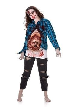 Baby Zombie Shirt  Een verrassing van binnen!  #zombie #zombiebaby #halloween #halloweenkostuum