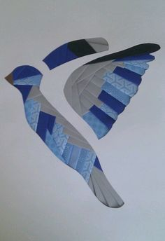 Bird iris folding card