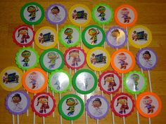30 Superwhy Inspired Cupcake Toppers Birthday Party Favors Supply Super Why
