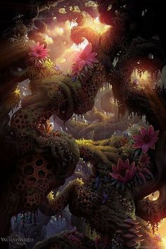 Flower glow fantasy