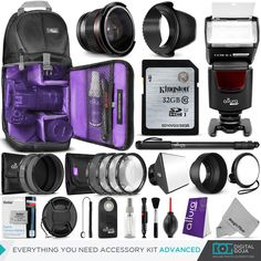 Canon Rebel T3i EOS 600D Everything You Need Accessory Kit 58mm Lens Bundle   eBay