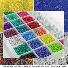 6400 Large Box Rainbow Loom Bands Rubber Friendship Bands Set Storage Kit 4000 Solid Colors Loom Bands,200 S-Clips,1 Loom,1 Hook,5 Loom Charms & FREE 2400 Loom Bandz Concession Market® http://www.amazon.co.uk/dp/B00L5KCAK2/ref=cm_sw_r_pi_dp_EeiPtb0GEY00JF1J