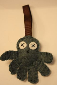 Jean blue felt octopus love keychain by inajuicebox on Etsy, $5.00