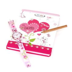 Flik Flak FTB014 Childrens Diary Book Watch and Diary Set #FlikFlak #ChildrensWatch #WatchSet #SwissWatch #Time #Pink