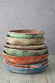 Originally for the Japanese aesthetic wabi-sabi. Explore tags: what is wabi-sabi? Wabi Sabi, Interior Pastel, Keramik Vase, Dough Bowl, Wood Bowls, Rustic Bowls, Rustic Plates, Wooden Plates, Ceramic Plates