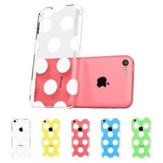 ESR the Beat Series Hard Clear Back Cover Snap on Case for iPhone 5C (Polka Dots) (4894240013885) Its unique design integrates apple logo into animations or patterns by using a crystal clear polycarbonate material giving you protection and a look that is much superior to other covers