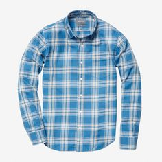 Designer Clothes, Shoes & Bags for Women Casual Shirts For Men, Men Casual, Suit Accessories, Golf Outfit, Chino Shorts, Athletic Wear, Comfortable Outfits, Blue Plaid, Flannel