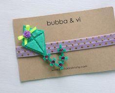 Glitter Hair Clip  Felt Hair Clip  Kite Hair Clip  by bubbaandvi, $15.00