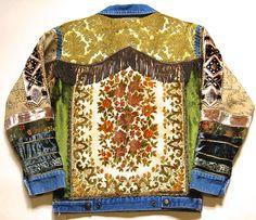 Tapestry Jacket 70s Vintage Renewed Denim jacket by cruxandcrow