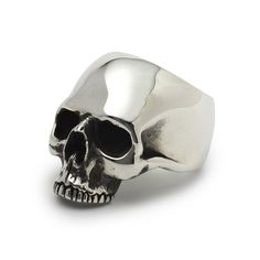 The Great Frog 'Jawless Anatomical Skull' Ring. Handmade in London from hallmarked .925 British sterling silver.