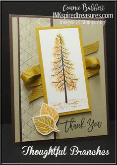 Thoughtful Branches, fall, baby wipe technique, #stampinup, #inkspiredtreasures, created by Connie Babbert, www.inkspiredtreasures.com