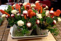 Edible Veggie Bouquet.