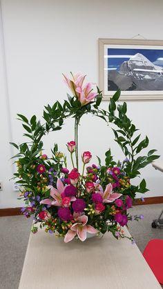 Basket Flower Arrangements, Funeral Floral Arrangements, Tropical Flower Arrangements, Modern Floral Arrangements, Creative Flower Arrangements, Beautiful Flower Arrangements, Flower Centerpieces, Flower Decorations, Beautiful Flowers