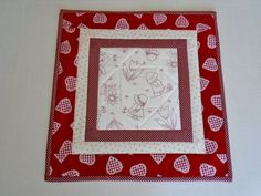 Valentine Table Topper Quilted Table Runner by ForgetMeNotQuilteds