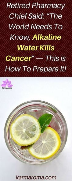 """Retired Pharmacy Chief Said: """"The World Needs To Know, Alkaline Water Kills Cancer"""" — This is How To Prepare It! - I Love Natural Healing Natural Home Remedies, Herbal Remedies, Health Remedies, Cold Remedies, Healing Herbs, Natural Healing, Health Tips, Health And Wellness, True Health"""