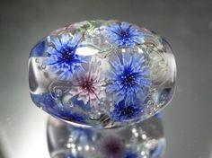 矢車菊のとんぼ玉(ガラス玉) ネックレス・ペンダント MA2 ハンドメイド通販・販売のCreema