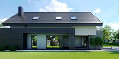 DOM.PL™ - Projekt domu CPT HomeKONCEPT-51 CE - DOM CP1-60 - gotowy koszt budowy Japanese Modern House, Modern Architecture House, Good House, Concept Home, Facade House, House Prices, Exterior Design, Ideal Home, House Design