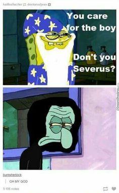 Spongebob and Harry Potter