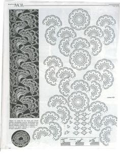 Crochet Motifs from a russian pattern book on picasaweb.
