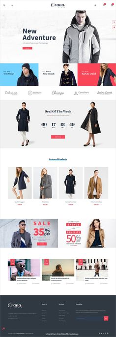 Leo Orana is clean, stylish and modern design 5in1 responsive Prestashop theme for stunning #fashion store #eCommerce website to live preview & download click on Visit