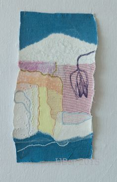 Spring, 32 x 17 cm, embelishment and free hand machine embroidery