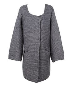 Look what I found on #zulily! Gray Pocket Cardigan by Beyond This Plane #zulilyfinds
