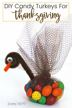 Thanksgiving candy turkey table toppers
