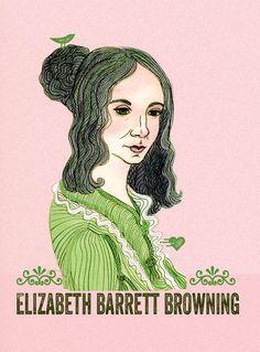 Elizabeth Barrett Browning - by Naquaiya from people Elizabeth Barrett Browning, Art Portfolio, Christian, Artist, Gatsby, Lime, Poetry, Corner, Victorian