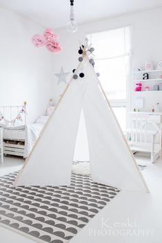 Tiipii DIY lastenhuone