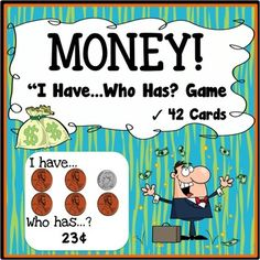 "Money I have, who has Game - Instead of money, we accept ratings and comments as ""payment"" for this free money game (puns intended!).  This is a free U.S. Money I have... Who has? Game to help students learn to recognize money and count money $1 and under."