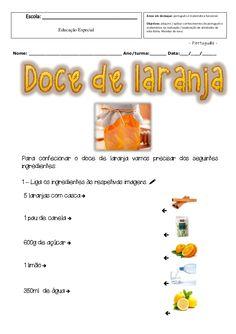 Ficha de trabalho de português e matemática funcional, para alunos com currículo específico individual.