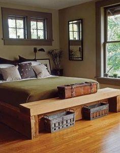 rustic masculine bachelor bedroom ideas