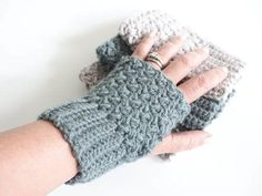 This Easy Elizabeth Stitch Fingerless Gloves Crochet pattern - quick to crochet and they are the perfect accessory to complete any outfit.
